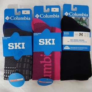 COLUMBIA *nwt* Sz Medium 3pr Ski Knee Highs